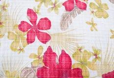 Textuur van stof in bloemenpatroon Royalty-vrije Stock Fotografie