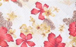 Textuur van stof in bloemenpatroon Stock Foto