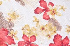 Textuur van stof in bloemenpatroon Stock Afbeelding