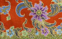 Textuur van Thaise stof Royalty-vrije Stock Foto's