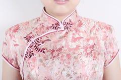 Textuur van traditionele Chinese kleding Royalty-vrije Stock Foto's