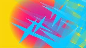 Textuur van transparante blauwe abstracte volumetrische modieuze magisch van diverse vormen van lichte lucht kosmische gesneden s Royalty-vrije Stock Foto's