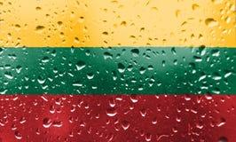 Textuur van vlag Litouwen stock foto