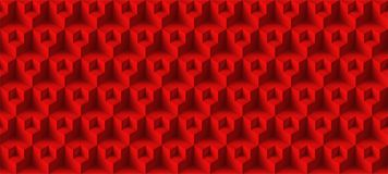 Textuur van volume de realistische vectorkubussen, rood geometrisch naadloos tegelspatroon, ontwerpachtergrond voor u projecten stock illustratie