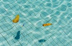 Textuur van water in de pool stock foto