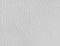 Textuur van wit leer Stock Foto