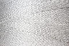 Textuur van witte draad in spoel Royalty-vrije Stock Afbeelding