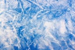 Textuur van witte katoenen stof met abstracte blauwe vlekken Natuurlijke stoffenachtergrond Stock Fotografie