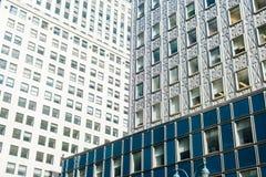 Textuur van wolkenkrabbers in Manhattan, New York stock fotografie