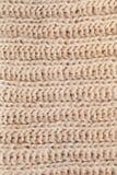 Textuur van wollen gebreide roomsjaal Royalty-vrije Stock Foto