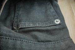 textuur van zwart Jean Royalty-vrije Stock Afbeelding