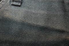 textuur van zwart Jean Royalty-vrije Stock Afbeeldingen