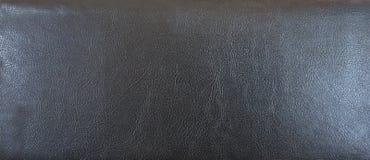 Textuur van zwart leer Stock Afbeelding