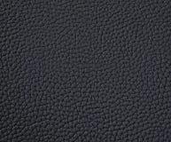 Textuur van zwart leer Stock Foto's