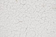 Textuur veel gebarsten witte verf Royalty-vrije Stock Foto