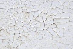 Textuur veel gebarsten witte verf Stock Foto's