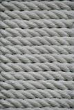Textuur - witte mariene kabel van natuurlijke vezels Royalty-vrije Stock Foto