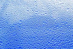 Textuurachtergrond van gecondenseerd water op een nat filmclose-up Th stock afbeeldingen