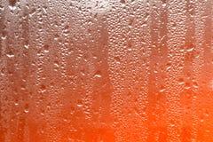 Textuurachtergrond van gecondenseerd water op een nat filmclose-up Th stock foto