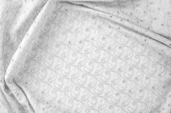 Textuurachtergrond van stof Doek met geslagen cirkels wit Stock Afbeelding