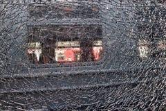 Textuurachtergrond voor ontwerp van netwerk van barsten van gebroken glas royalty-vrije stock foto