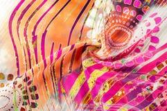 Textuurachtergrond, Zijdestof met abstract patroon col. Stock Afbeelding