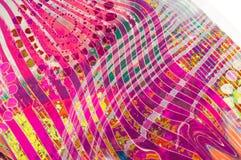Textuurachtergrond, Zijdestof met abstract patroon col. Stock Foto's