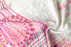 Textuurachtergrond, Zijdestof met abstract patroon col. Stock Afbeeldingen