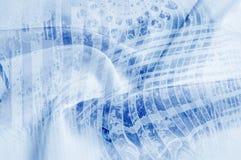 Textuurachtergrond, Zijdestof met abstract patroon flo Stock Foto's