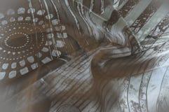 Textuurachtergrond, Zijdestof met abstract patroon flo Royalty-vrije Stock Foto