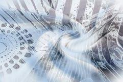 Textuurachtergrond, Zijdestof met abstract patroon flo Royalty-vrije Stock Foto's