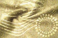 Textuurachtergrond, Zijdestof met abstract patroon flo Stock Afbeelding