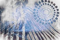 Textuurachtergrond, Zijdestof met abstract patroon flo Royalty-vrije Stock Afbeelding