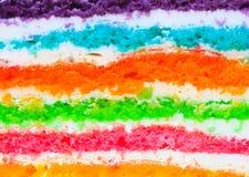 Textuurlaag van Regenboogcake Royalty-vrije Stock Fotografie