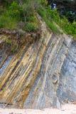 Textuurlagen van aarde Stock Foto's