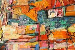 Textuurolieverfschilderij, schilderende auteur Roman Nogin, een reeks van `-Jazz ` stock afbeeldingen