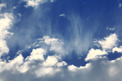 Textuurpf de wolken van de vanilahemel Stock Afbeelding