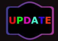 Textzeichen Aktualisierung Aktuell mit spätestem aktualisiert stock abbildung