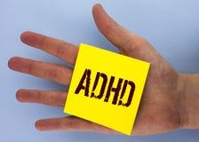 Textzeichen, das Adhd zeigt Begriffsfoto Lernen einfacher für das Kinderunterrichten nicht mehr eine schwierige Aufgabe gemacht g Lizenzfreie Stockbilder