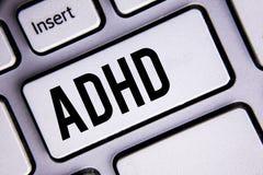Textzeichen, das Adhd zeigt E Lizenzfreies Stockbild