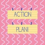 Textzeichen, das Aktionsplan zeigt Begriffsfoto vorgeschlagene Strategie oder Vorgehensweise für bestimmten Zeit zwei Farbfreien  vektor abbildung