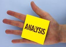 Textzeichen, das Analyse zeigt Strategische analytische Pläne des Begriffsfotos für die neue Websitewachstumsentwicklung geschrie Stockbild