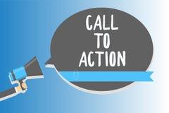 Textzeichen, das Aufruf zum Handeln zeigt Begriffsfoto regen Entscheidungs-Bewegung an, erfolgreichen Strategie Mann voranzubring stock abbildung