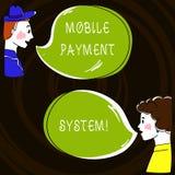 Textzeichen, das bewegliches Zahlungs-System zeigt Die Begriffsfoto Zahlungsdienstleistung, die über tragbare Geräte erbracht wir stock abbildung