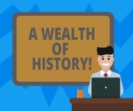 Textzeichen, das einen Reichtum der Geschichte zeigt E vektor abbildung