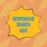 Textzeichen, das entgegenkommende Suchanzeigen zeigt Begriffsfoto, zum der Wahrscheinlichkeit zu erhöhen, dass Ihre Anzeige leere lizenzfreie abbildung