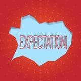 Textzeichen, das Erwartung zeigt Sagt meteorologischer Forschungsanalytiker des Begriffsfotos Wettervorhersage voraus vektor abbildung