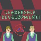 Textzeichen, das Führungs-Entwicklung zeigt Begriffsfotoprogramm, das das Darstellen macht, werden besseres Führer Geld herein lizenzfreie abbildung