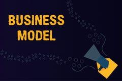 Textzeichen, das Geschäftsmodell zeigt Das Begriffsfoto, das Einkommensquellen identifiziert, planen auf, wie man Gewinn erzielt stockbild
