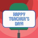 Textzeichen, das glücklichen Lehrer S Is Day zeigt Begriffsfotogeburt zweite Präsident India verwendet, die Meister zu feiern lee vektor abbildung